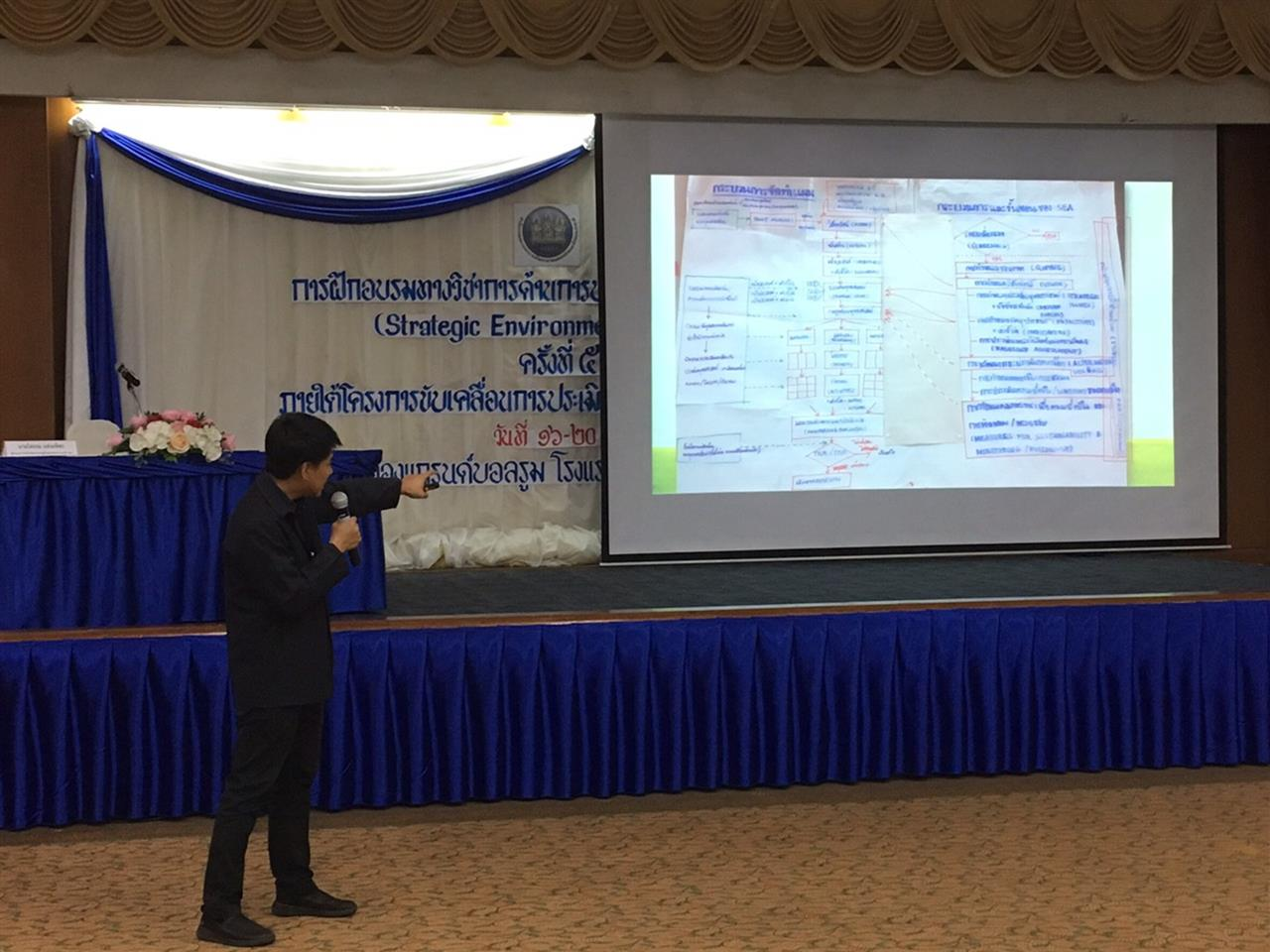 อาจารย์ SEEN เข้าร่วมประชุมฝึกอบรมปฏิบัติด้านการประเมินสิ่งแวดล้อมระดับยุทธศาสตร์ (Strategic Environmental Assessment: SEA) ครั้งที่ 5