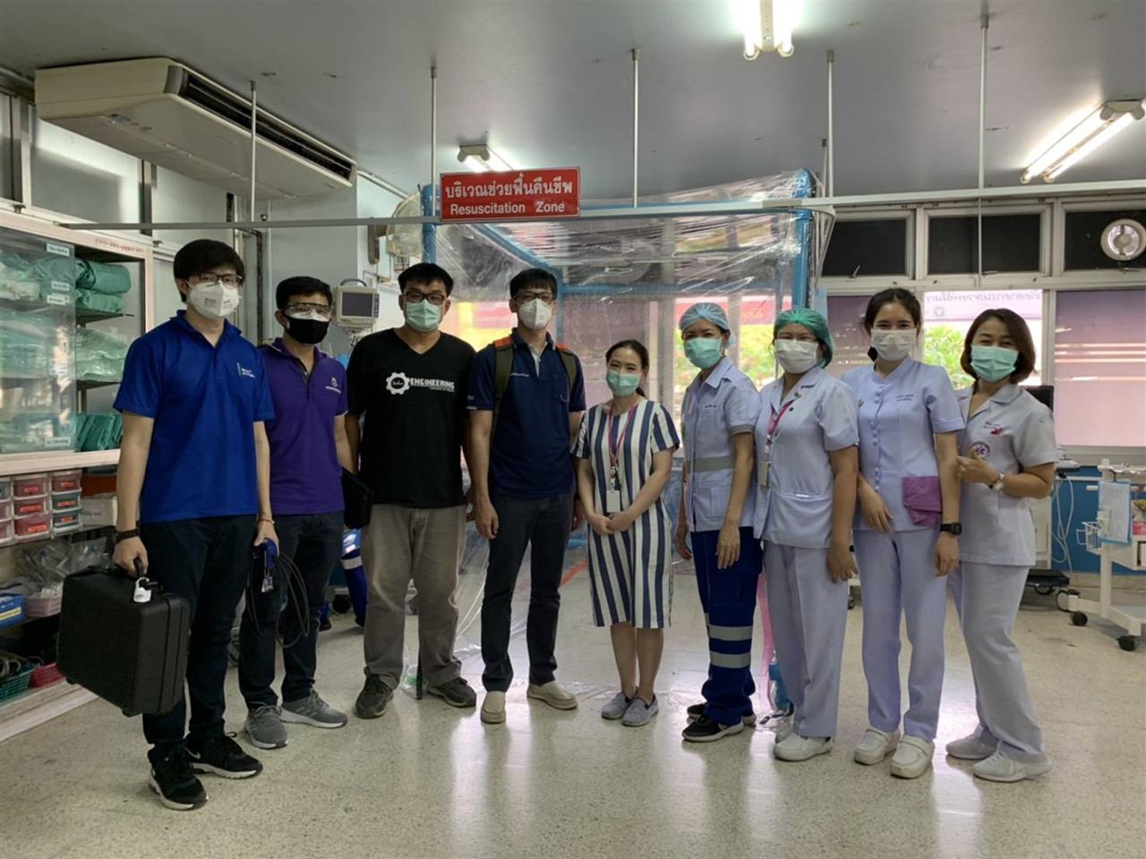 วิศวะ มพ. ส่งมอบห้องแยกการติดเชื้อทางอากาศความดันลบให้โรงพยาบาลพะเยา