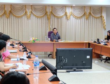 กองบริหารงานวิจัย จัดประชุมติดตามการดำเนินงานและวางแผนการดำเนินงาน