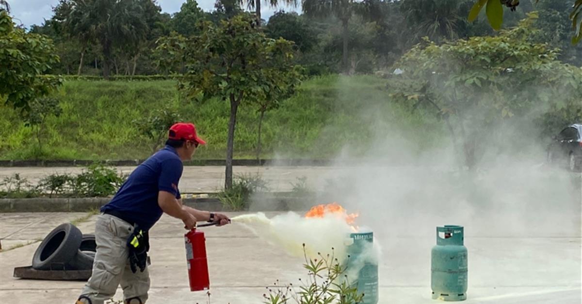 ซ้อมดับเพลิงและฝึกซ้อมอพยพหนีไฟ