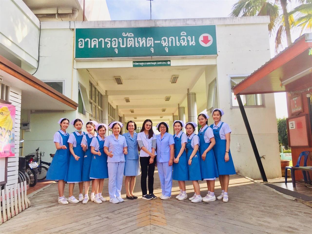 """นิสิตคณะพยาบาลศาสตร์ ชั้นปีที่  4 มหาวิทยาลัยพะเยา ร่วมกับโรงพยาบาลเวียงป่าเป้า จังหวัดเชียงราย Conference case study เรื่อง  """"Parapneumonic Effusion"""""""