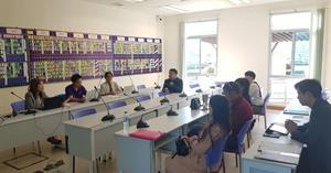 งานผลิตสื่อนวัตกรรม ศูนย์บริการเทคโนโลยีสารสนเทศและการสื่อสาร เข้าร่วมประชุมเพื่อเตรียมความพร้อมสำหรับการจัดการเรียนการสอนออนไลน์ด้วย ระบบ SatitLMS โรงเรียนสาธิตมหาวิทยาลัยพะเยา