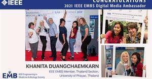 ขอแสดงความยินดีกับ อ.ภญ.คณิตา ดวงแจ่มกาญจน์ ที่ได้รับการพิจารณาแต่งตั้งให้ดำรงตำแหน่ง IEEE EMBS Digital Media Ambassador ติดต่อกันเป็นปีที่ 4