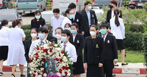 คณะพยาบาลศาสตร์ มหาวิทยาลัยพะเยา ร่วมถวายพวงมาลา เนื่องในวันมหิดล