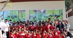 """พิพิธภัณฑ์ธรรมชาติวิทยา คณะวิทยาศาสตร์ ต้อนรับคณะครู นักเรียน จากโรงเรียนบ้านร้องเชียงแรง  เข้าเยี่ยมชมนิทรรศการ """"นกยูงไทยแห่งล้านนาตะวันออก"""""""