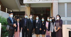คณะพยาบาลศาสตร์ มหาวิทยาลัยพะเยา ให้การต้อนรับคณะผู้บริหารจากมหาวิทยาลัยราชภัฏลำปาง จังหวัดลำปาง