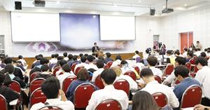 คณะเทคโนโลยีสารสนเทศและการสื่อสาร มหาวิทยาลัยพะเยา จัดกิจกรรมปฐมนิเทศนิสิตก่อนฝึกงานและสหกิจศึกษา เพื่อเตรียมความพร้อมของนิสิตก่อนออกไปฝึกประสบการณ์วิชาชีพ