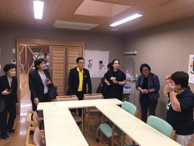 Asst.,Prof.,Paralee,Opasanan,,Dean,of,School,of,Nursing,University,of,Phayao,,and,executive,committee,visited,Josai,Hospital,,Yuki,,Japan,on,26-30,July,,2019