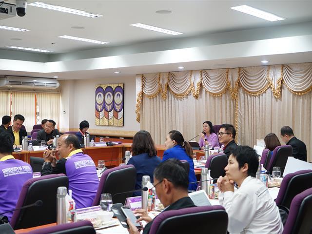 โรงเรียนสาธิตมหาวิทยาลัยพะเยาเข้าร่วมการประชุมคณะกรรมการบริหารมหาวิทยาลัยพะเยา