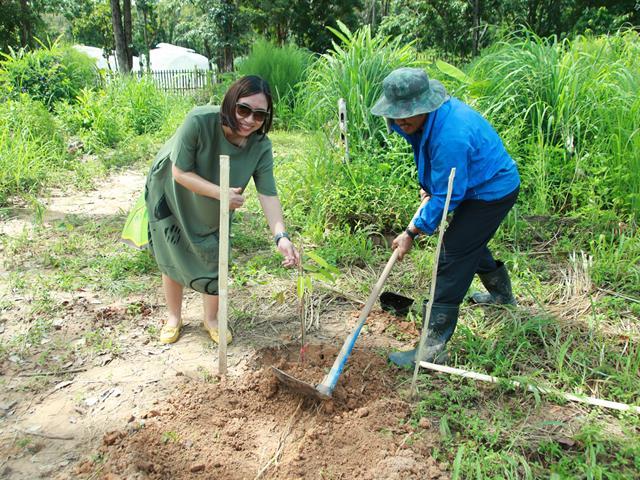 """คณะเกษตรศาสตร์และทรัพยากรธรรมชาติ,มหาวิทยาลัยพะเยา,จัดโครงการ,"""",ปลูกต้นไม้ในใจคน,"""""""