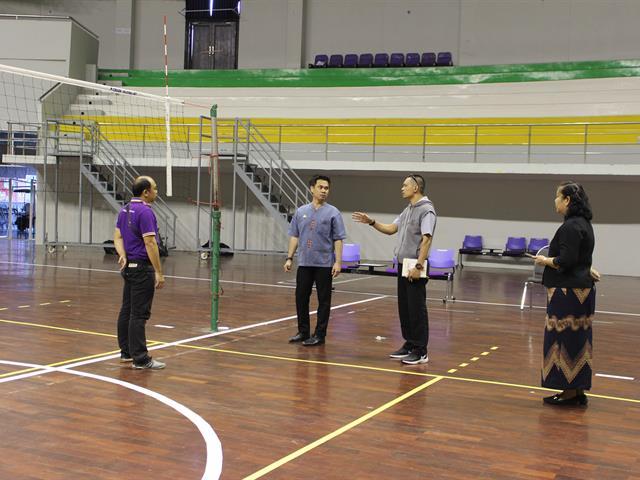 ผู้บริหารและบุคลากรกองพัฒนาคุณภาพนิสิตและนิสิตพิการ,ลงพื้นที่สำรวจเตรียมความพร้อมการแข่งขันกีฬามหาวิทยาลัย,แห่งประเทศไทย,ครั้งที่,47,,