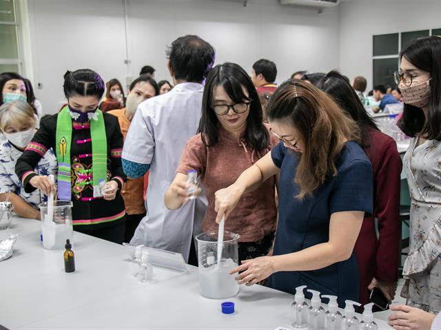 """คณะศิลปศาสตร์ เข้าร่วมโครงการ """"Workshop การเตรียมแอลกอฮอล์ ต้าน COVID-19"""""""