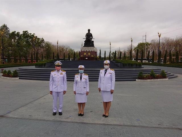 อธิการบดีมหาวิทยาลัยพะเยา พร้อมคณะผู้บริหาร เข้าร่วมประกอบพิธีถวายราชสักการะเนื่องในวันคล้ายวันสวรรคตสมเด็จพระนเรศวรมหาราช ประจำปี 2563