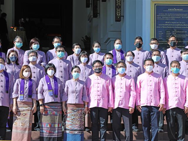 คณะทันตแพทยศาสตร์ เข้าร่วมพิธีสำคัญเนื่องในวันคล้ายวันสถาปนามหาวิทยาลัยพะเยา