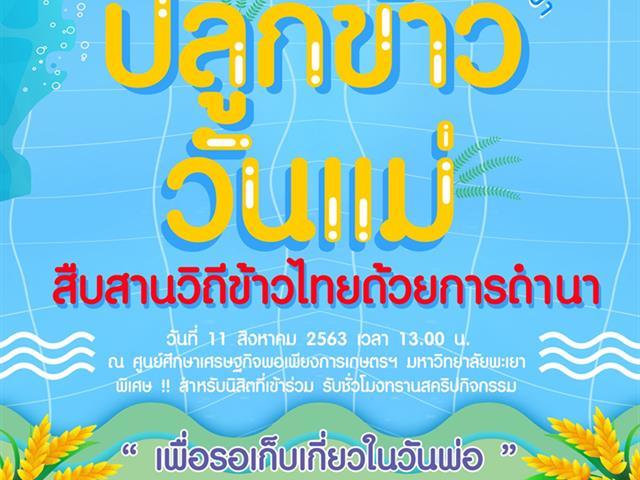 ปลูกข้าววันแม่  สืบสานข้าวไทยด้วยการดำนา