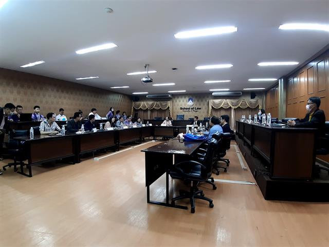 ต้อนรับคณะศึกษาดูงานด้านคลินิกกฎหมาย คณะนิติศาสตร์ มหาวิทยาลัยอุบลราชธานี