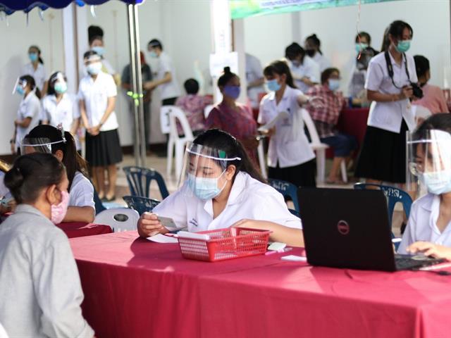 สาขาวิชาเทคนิคการแพทย์ คณะสหเวชศาสตร์ จัดกิจกรรมตรวจประเมินสุขภาพประชาชนในชุมชนบ้านแม่กาหลวง จังหวัดพะเยา