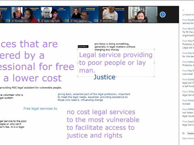 """คณบดีคณะนิติศาสตร์ มหาวิทยาลัยพะเยา ได้เข้าร่วมและเป็นหนึ่งในผู้บรรยายในหัวข้อ """"Fundamentals of Pro Bono""""  ในการสัมมนาออนไลน์ Inaugural Asia Pro Bono Virtual Conference & Access to Justice Exchange (APBC & A2J Exchange)"""