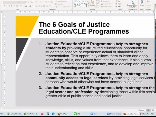 สัมมนาและแลกเปลี่ยนความคิดเห็นกับผู้เข้าร่วมการสัมมนา Inaugural Asia Pro Bono Virtual Conference & Access to Justice Exchange (APBC & A2J Exchange)