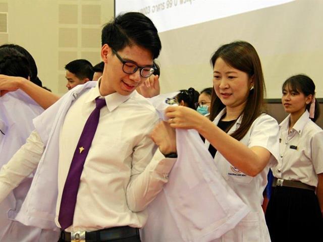 คณะสหเวชศาสตร์ มหาวิทยาลัยพะเยา พิธีไหว้ครู พิธีมอบเสื้อกาวน์