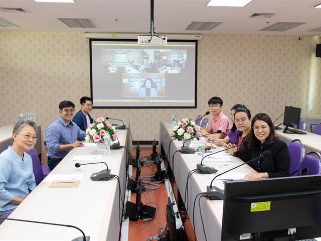 คณะศิลปศาสตร์ร่วมประชุมออนไลน์เพื่อรายงานและติดตามผลความร่วมมือทางวิชาการ ระหว่างมหาวิทยาลัยพะเยา และ มหาวิทยาลัยครุศาสตร์เทียนจิน ประเทศจีน