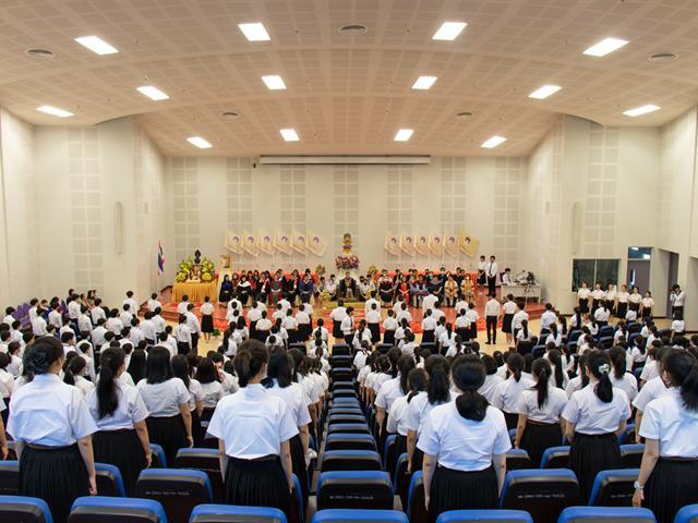 """คณะศิลปศาสตร์จัดพิธีไหว้ครู """"กราบคุรุปูจา ครูบาอาจารย์เจ้า"""" ประจำปีการศึกษา ๒๕๖๓"""