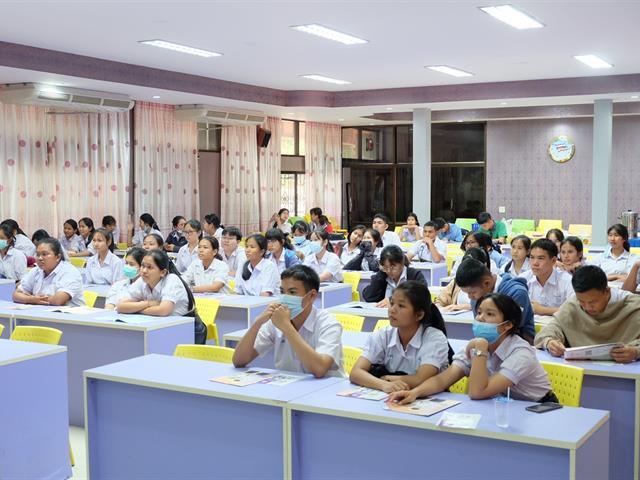 คณะวิทยาศาสตร์การแพทย์ ร่วมกับคณะเกษตรศาสตร์และทรัพยากรธรรมชาติ ออกแนะแนวสัญจรให้กับนักเรียนมัธยมศึกษาตอนปลาย