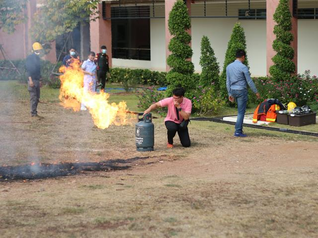 อบรมฝึกซ้อมดับเพลิง