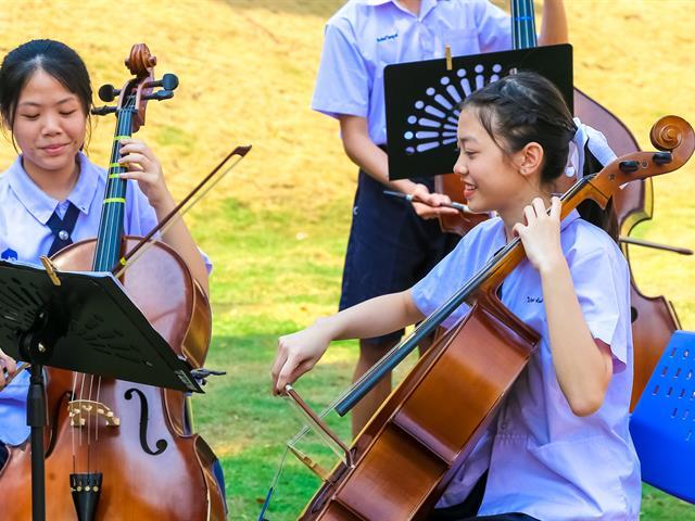 สุนทรียภาพ เล่นดนตรีในสวน