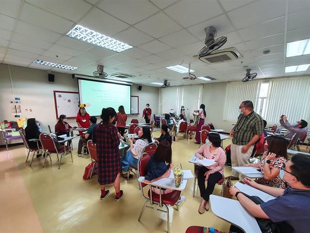"""โครงการ """"แลกเปลี่ยนเรียนรู้ประเด็นการพัฒนาคุณภาพ และการบริหารจัดการหลักสูตรและประเด็น CLOs กับระดับ CEFR"""""""
