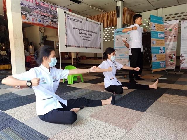 สาขาวิชาการแพทย์แผนไทยประยุกต์ คณะสาธารณสุขศาสตร์ และคณะแพทยศาสตร์ ได้จัดโครงการส่งเสริมการใช้องค์ความรู้ทางด้านศาสตร์การแพทย์แผนไทยให้แก่คนในชุมชน