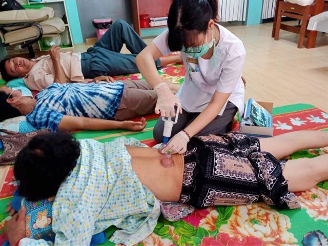 หลักสูตรการแพทย์แผนจีนบัณฑิตคณะสาธารณสุขศาสตร์มหาวิทยาลัยพะเยา ได้จัดโครงการแพทย์จีน มพ สู่ชุมชน ครั้งที่ 1