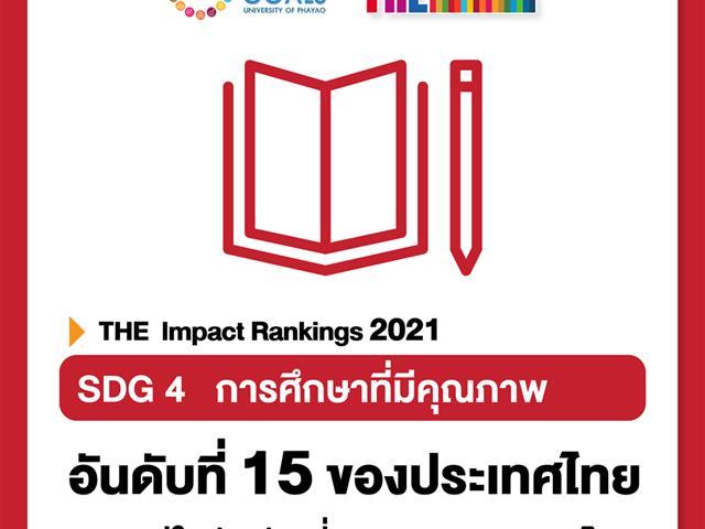SDGs  มหาวิทยาลัยพะเยา Times Higher Education THE Impact Ranking